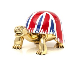 Union Jack by Diederik Van Apple - Resin Sculpture sized 16x10 inches. Available from Whitewall Galleries